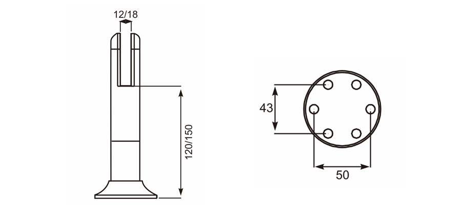 可调脚座 Adjustable Support Leg